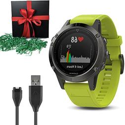 Garmin Gift Package Golf GPS Watch Fenix 5, Slate Gray with