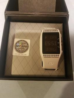 Golf Buddy LD2 White Swarovski Crystal GPS Watch