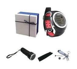POSMA Golf Fitness GPS Watch Range Finder Deluxe Gift Set wi