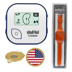AMBA7 GolfBuddy Voice 2 Golf GPS/Rangefinder  Bundle with Wr