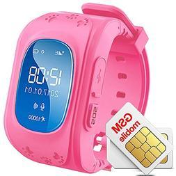 GPS Kid Tracker Smart Wristwatch Pedometer Sleep Monitor US