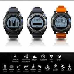 GPS Running Smart Watch With Heart Rate Bluetooth Waterproof