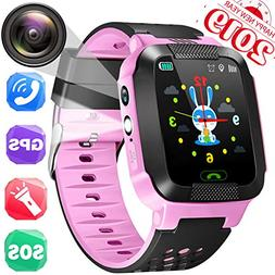GPS Tracker Watch for Kids - Smart Wrist Watch Phone Call wi