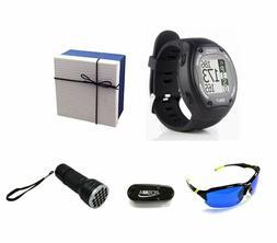 gt1 golf gps watch range finder delux