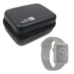 DURAGADGET Hard Shell EVA Box Case with Carabiner Clip & Twi