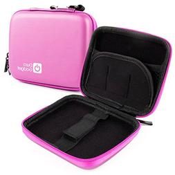 DURAGADGET Exclusive Hard Shell EVA Box-Style Case in Pink f
