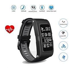 Teepao Heart Rate GPS Waterproof Smart Watch Wristband Brace