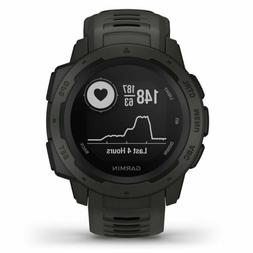 Garmin Instinct Rugged Outdoor GPS Watch Graphite Wrist HRM