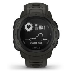 instinct rugged outdoor gps watch graphite wrist