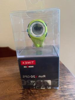 Timex Ironman Run x20 GPS Watch Neon Green TW5K87500 FAST SH