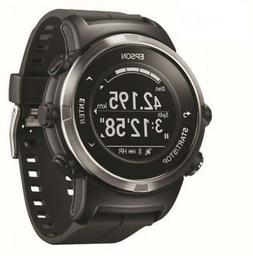EPSON J-350B Wristable GPS Digital Watch Black Japan Domesti