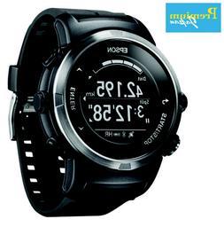 EPSON J-350B Wristable GPS Digital Watch Black Japan Domesti