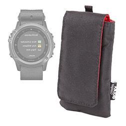 jet black cushioned smartwatch case