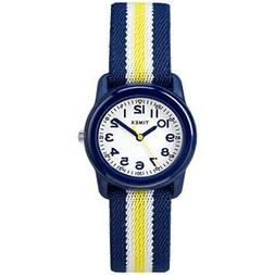 Timex Kid's Analog Watch w/Elastic Fabric Band - Blue/Yellow