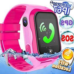 Kid Smart Watch Phone GPS Tracker WiFi Locator IP68 Waterpro