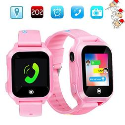 Kids Phone Smart Watch, GPS Tracker Smart Watches for Childr