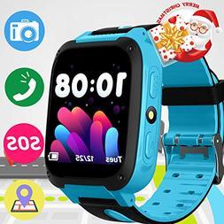 Kids Phone Smart Watch SOS GPS Tracker Wrist with 3-12 Year