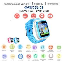 kids smart watch phone gps tracker watch