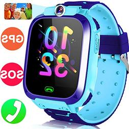 Kids Smart Watch Phone GPS Tracker Watch for Girls Boys 1.5""