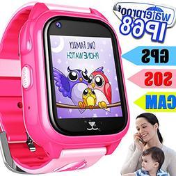 kids smart watch phone gps tracker waterproof