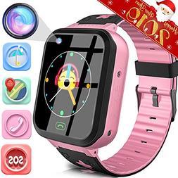Kids Smart Watch Phone With GPS Tracker IP68 Waterproof for