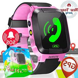 Kids Smart Watch Phone with SIM Card Slot GPS Tracker for Bo