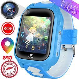 Kids Smart Watches Phone with GPS Locator Pedometer Waterpro