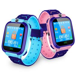 Kids SmartWatch Phone GPS Track Voice Chat Camera Flashlight