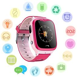 Waterproof GPS Tracker Watch for Kids - IP67 Water-resistant