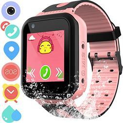 Waterproof GPS Tracker Watch for Kids - IP67 Water-resistant