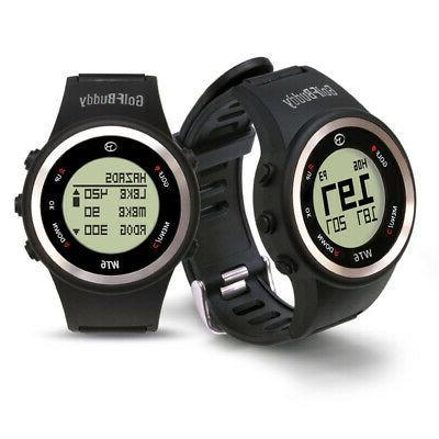 NEW GOLFBUDDY WT6 GOLF GPS WATCH BLACK