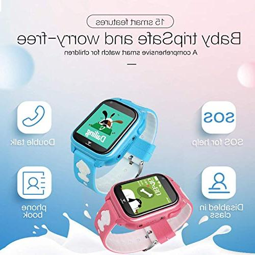 2019 Smart Tracker Kids Boys Watch with Touch SOS Camera Cell Phone Fitness Smartwatch Birthday Gifts