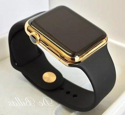 24K Apple Watch SERIES with Black Sport GPS+Cellular
