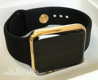 24K Plated Apple with Black Sport GPS+Cellular