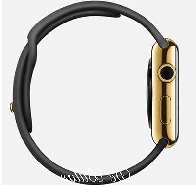 24K Plated Apple with Black Sport Band GPS+Cellular