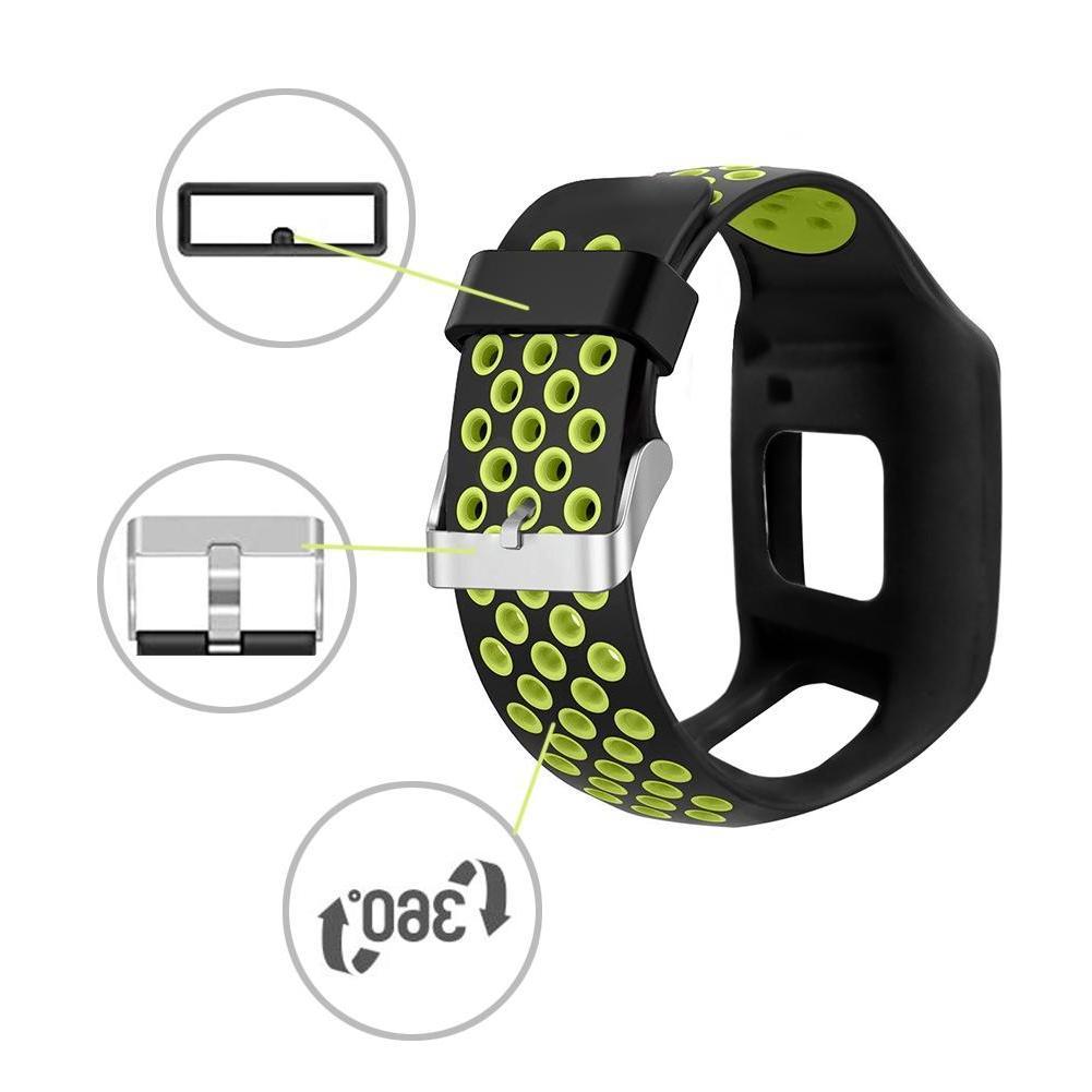 28mm Wrist Strap Silicone Replacement Wrist Band Strap TomTom <font><b>1</b></font> <font><b>1</b></font>