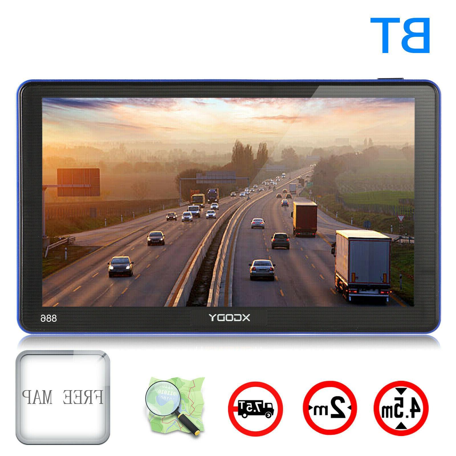 886 7 inch truck car gps navigation