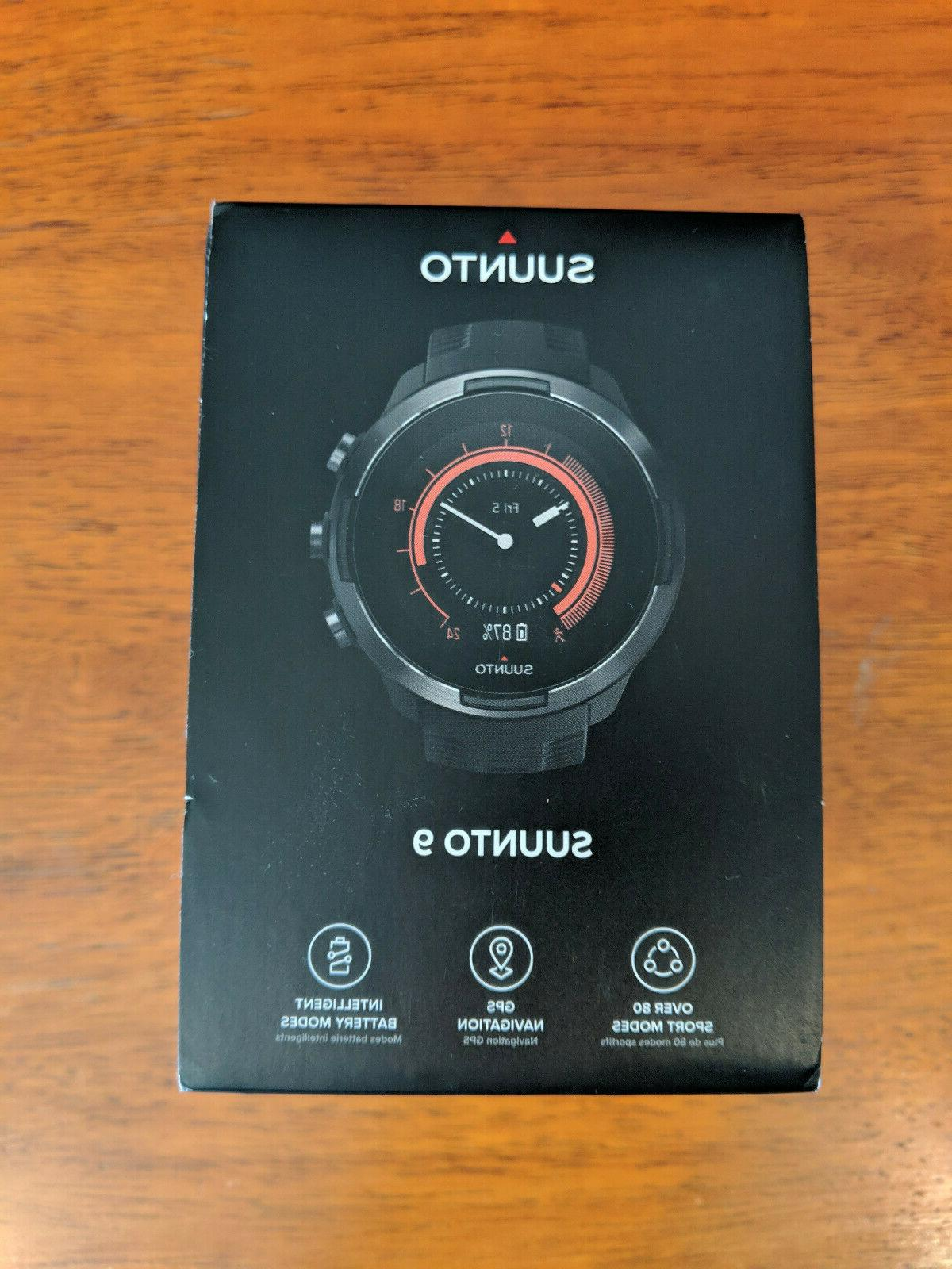 9 baro black gps watch new