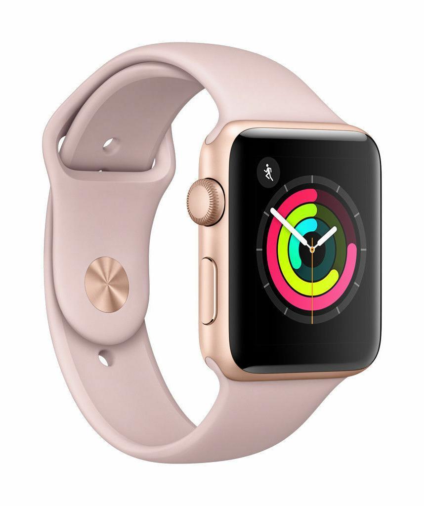 Apple SmrtWatc 26 - 42mm Watch Series 3 - GPS - Gold Aluminu