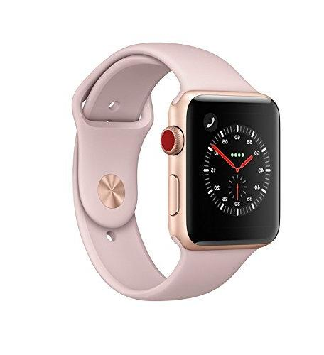 super popular 79ad1 dc7cf Apple Watch Series 3 42mm, GPS Cellular, Gold/Pink