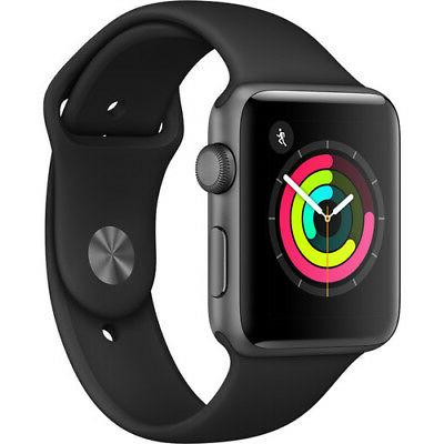 detailed look f2732 f8730 Apple Watch Series 3 - GPS - Space Gray Aluminum Case with Black Sport Band  - 42mm