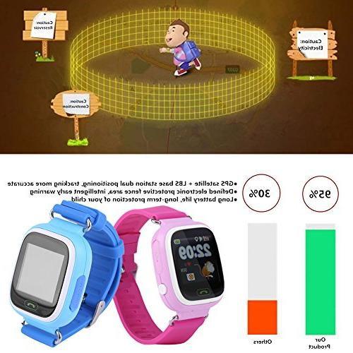 Children GPS Tracker Watch, WIFI Touch Watches Precise Monitor / Card / for Safty Christmas Gift