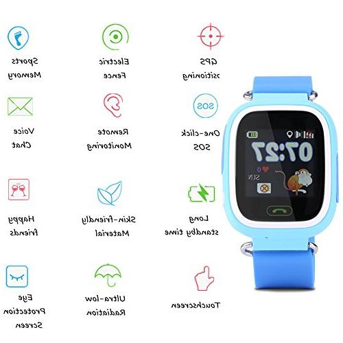 Children Tracker WIFI Touch Watches Precise Positioning Monitor with Voice / Card / Pedometer for Kids Safty SOS Christmas