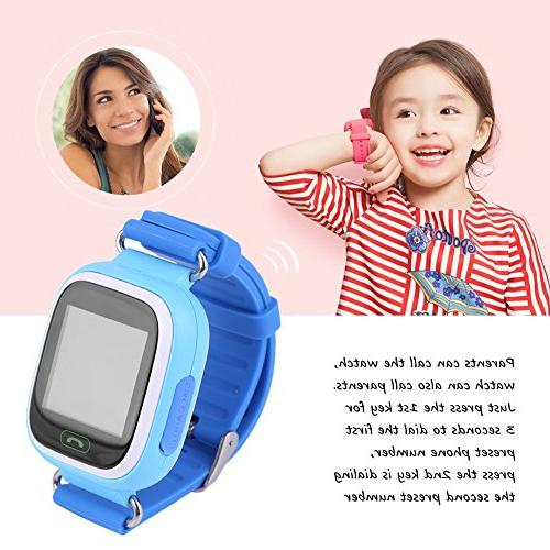 Children WIFI Touch Screen Watches Precise Monitor with Voice / for Kids Safty Christmas Gift