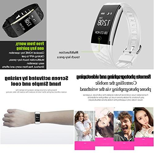 EFOSHM Fitness Heart Rate, with Steps/Calorie Monitor Smart for