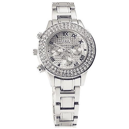 ELEOPTION Bracelet Design Quartz Watch with Rhinestone Dial