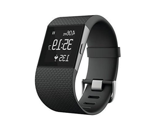 Fitbit Surge Fitness Superwatch, Black, Large