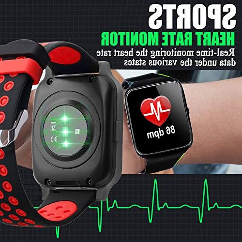 Fitness Rate Smart GPS Tracker for Gift Sport Smartwatch Calories Pedometer Sync Phone iOS