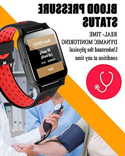 Fitness Tracker with Rate Smart Watch Gift Smartwatch Calories Phone Calls SMS iOS