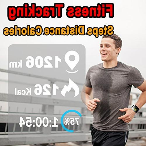 Fitness Tracker Rate Blood Smart Watch Tracker Men Prime Gift Women Sport Smartwatch Pedometer Phone Calls SMS iOS